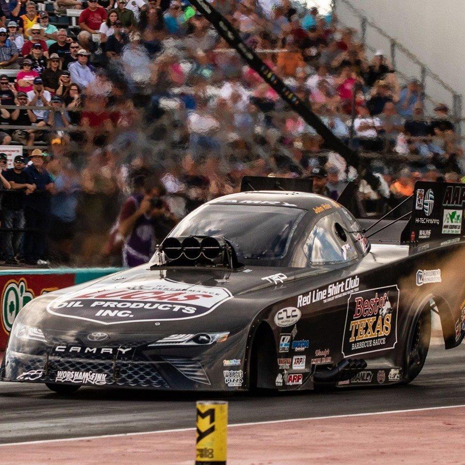 John Hale back in the saddle again with the Best of Texas Barbecue Sauce Funny Car