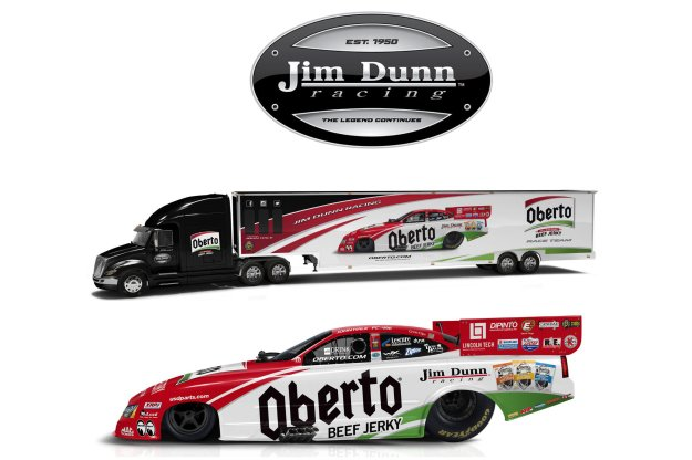 OBERTO BEEF JERKY PRIMARY SPONSOR FOR JIM DUNN RACING IN 2016